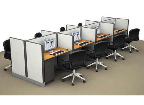 office cubicle workstation view specifications details of office rh indiamart com Office Cubicle Layout 6X6 Modular Office Furniture Cubicles