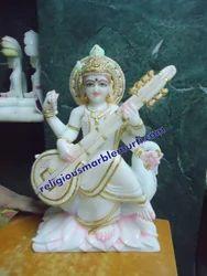 Marble Statue Saraswati Ji