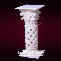 Multi Color Marble Carving Pillars