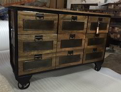 Industrial Retro Style Drawer Chest