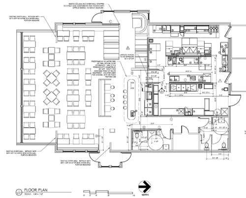 Kitchen facility planning layout