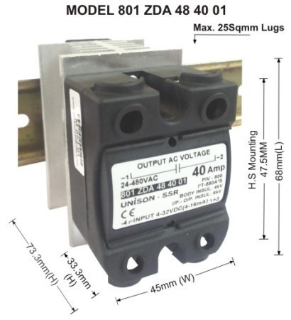 Solid State Relay Dc To Ac 40amp Unison Controls Private Limited