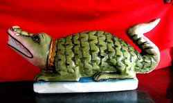 Green Aligator Statue Of Khodiyar Maa, Usage: Interior Decor