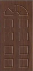 Brown Natural Wood Color Single Wooden Door