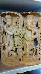 White Kadam Wood God Statue