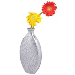 Polished Aluminium Flower Vase