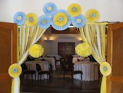 Yellow And Blue Baby Shower Decor ग द
