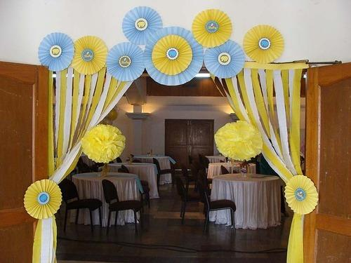 Yellow And Blue Baby Shower Decor Untumble Customised Party
