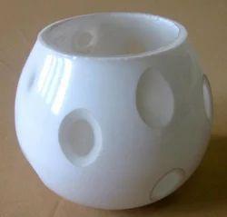 White Glass Pot