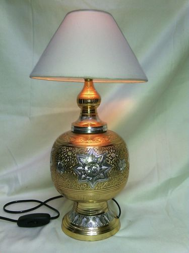 Vaah hand engraved brass table lamps