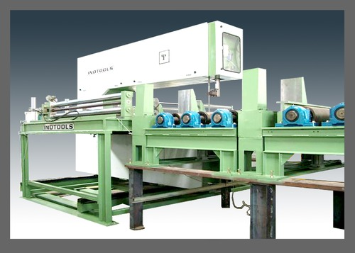 Vertical Bandsaw Machine For Aluminium Slab Cutting Setup