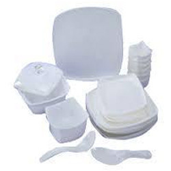 Acrylic White Crockery