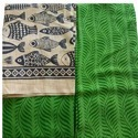 Green Printed Khadi Fabric Suit