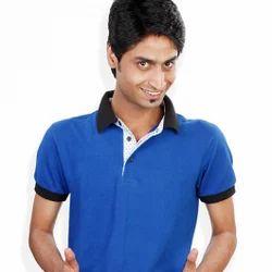 166c8b085c10a2 Royal Blue Semi- Formal Collar T-shirt at Rs 250 /piece | Trilokpuri ...