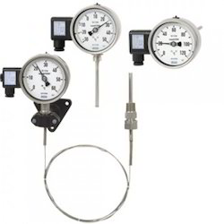 Wika Gas In Metal Temperature Gauges with Capillary F73.160