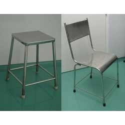 Stainless Steel Chair & Table