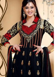 Ladies Black Georgette Suit
