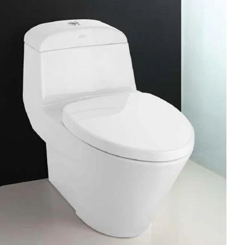 Western oval toilets