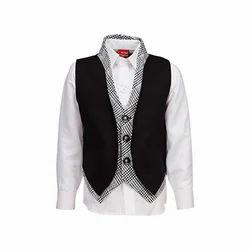 Boys Black Velvet Waistcoat