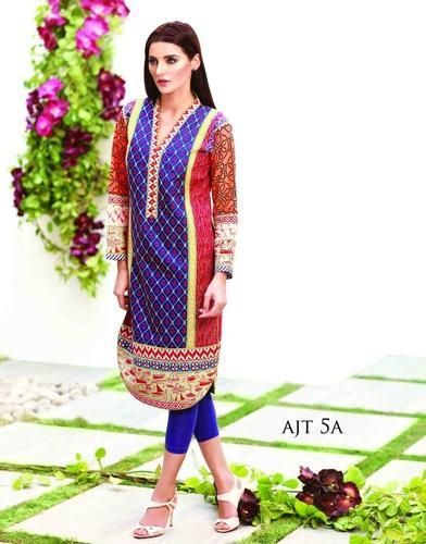 6958012b69d6 Original Pakistani Long Kurta - Printed Long Pakistani Kurti Manufacturer  from Mumbai
