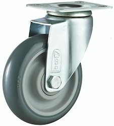 Hod Grey PU Medium Duty Castor Double Ball Bearing