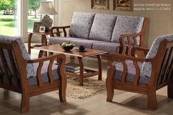 Terrific Brown Teakwood Sofa Set Sathya Corporation Id 9629000230 Squirreltailoven Fun Painted Chair Ideas Images Squirreltailovenorg
