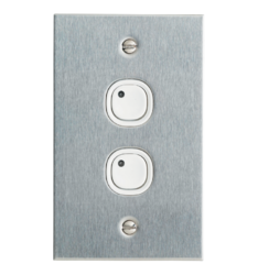 C-Bus Metal Plate And Multi-Gang Wall Switches