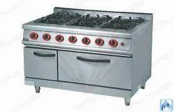 Six Burner Gas Range with Oven