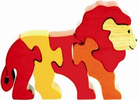 large jigsaw puzzle lion kinder creative toys private limited