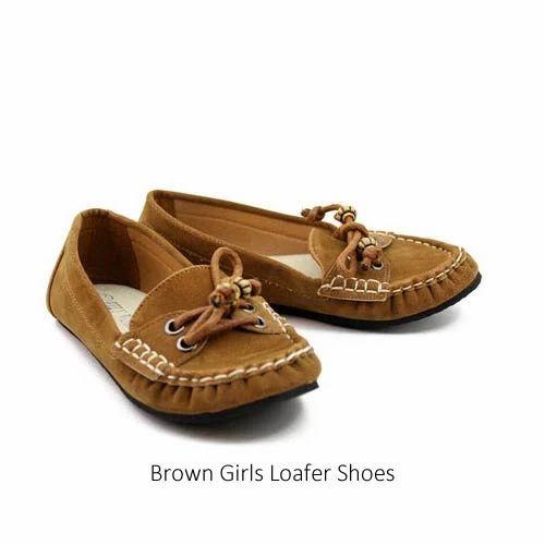 Brown Girls Loafer Shoes, Ladies Loafers, महिलाओं के लोफ़र्स, वूमेन लोफर -  Vibgyor Merchandising, Kanpur | ID: 5658455373
