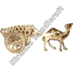 Brass Lakar Stone Cart