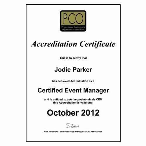 Event Management Certificate, Certificate Courses - St. Antony \'s ...