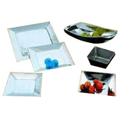 Aluminum Square Trays and Serving Bowls