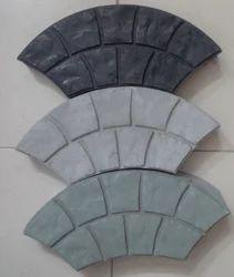 Cement Cobble Arc Block