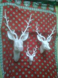 Artificial White Deer Head