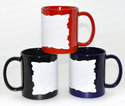White Patch Rock Shape Mug