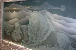 Decorative Carved Wall Glass