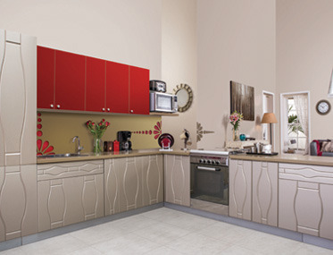 kitchen design godrej interio kitchens l shaped kitchen marine ply wholesaler from 729