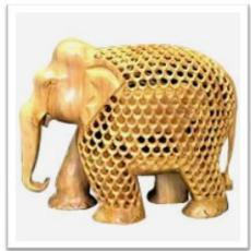 Wooden Elephant (Undercut) - View Specifications & Details
