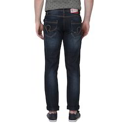 Casual Wear Faded Mens Blue Jeans, Waist Size: 28-50 Inch, Packaging Type: Packet