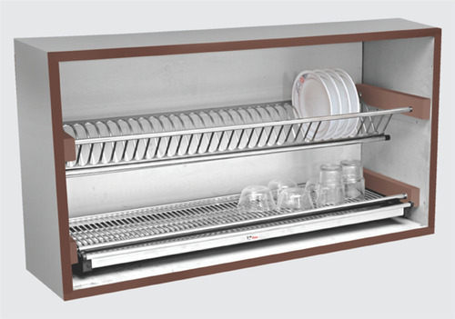 Modular Kitchen Decorated Chrome Dish Rack