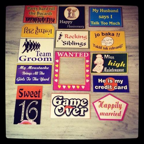 Photo Booth Placards Boards Party Supplies Store