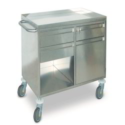 Stainless Steel Trolley, for Hospital