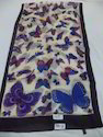Pure Silk Butterfly Printed Scarves