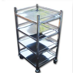 4 Shelves Hospital Dressing Trolley