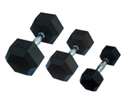 Rubber Coated Hexagon Dumbbells