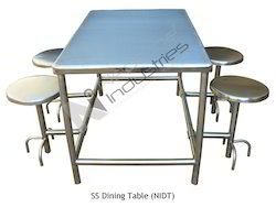neptune ind Polished Stainless Steel Dining Table, For Hotel