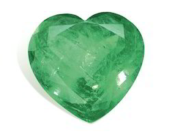First Precious Heart Shaped Sakota Mines Emerald