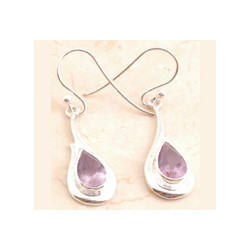 Exceptional Amethyst in 925 Sterling Sliver Earrings