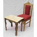 Wooden Carved Table and Chair